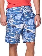 Chaps Multicolor Tropical Print Swim Shorts