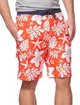 Chaps Orange Stripe Swim Shorts