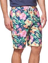Chaps Multicolor Floral Print Swim Shorts