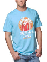 Chaps Blue Great Palm Graphic T-shirt