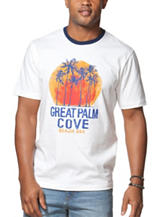 Chaps White Great Palm Cove Graphic T-shirt