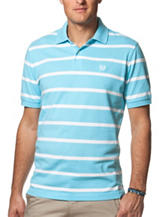 Chaps Turquoise & White Classic Bar Stripe Shirt