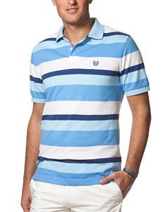 Chaps Multicolor Striped Print Fancy Polo Shirt