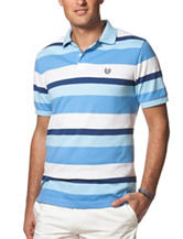 Chaps Multicolor Striped Print Fancy Polo Shirt