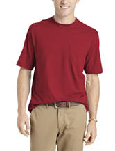 Izod Solid Crewneck Pocket T-shirt