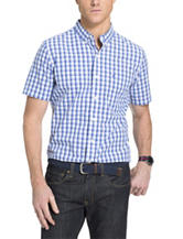 Izod Multicolor Plaid Print Woven Shirt