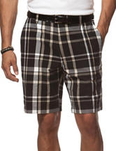 Chaps Multicolor Plaid Print Shorts