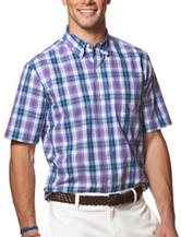 Chaps Medium Purple Plaid Woven Shirt