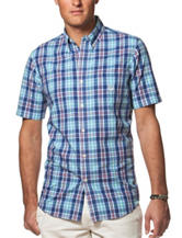 Chaps Royal Blue Classic Plaid Woven Shirt