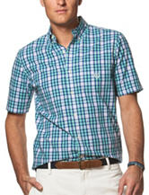 Chaps Green Small Check Woven Shirt