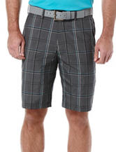 PGA Tour® Flat Front End On End Plaid Shorts