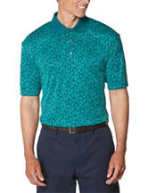 Jack Niklaus Foliage Print Performance Polo Shirt