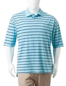 Sun River Big & Tall Striped Print Polo Shirt