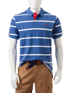 U.S. Polo Assn. Blue Heather Polos