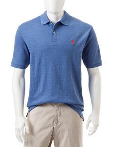 U.S. Polo Assn. Blue Heather Polos