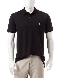 U.S. Polo Assn. Black Performance Polo Shirt