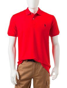 U.S. Polo Assn. Red Performance Polo Shirt
