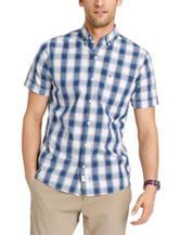 Izod Americana Plaid Print Woven Shirt