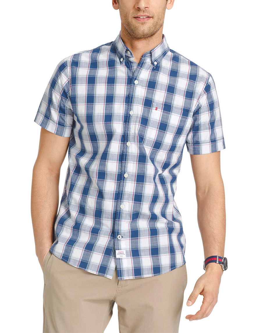 Izod White Casual Button Down Shirts