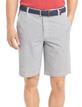 Izod Flat Front Seersucker Shorts