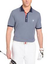 Izod Striped Placket Performance Polo Shirt
