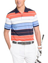 Izod Multicolor Striped Print Polo Shirt