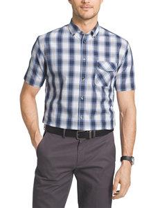 Van Heusen Big & Tall Plaid Print Woven Shirt