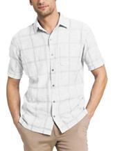 Van Heusen Windowpane Plaid Print Woven Shirt