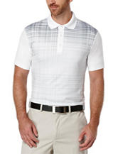 PGA Tour® Fading Plaid Print Polo Shirt