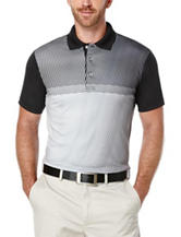 PGA Tour® Mini Geometric Print Polo Shirt