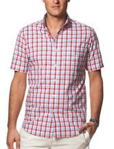 Chaps Woven U.S.A. Plaid Print Shirt