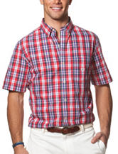 Chaps Multicolor Plaid Print Woven Shirt