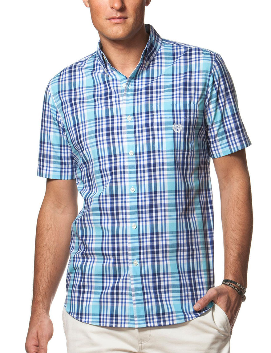 Chaps Turquoise Casual Button Down Shirts