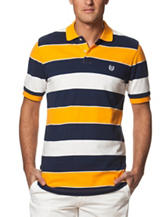 Chaps Fancy Multicolor Striped Print Polo Shirt