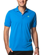 Chaps Solid Blue Performance Polo Shirt