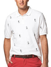 Chaps Hawaiian Print Polo Shirt