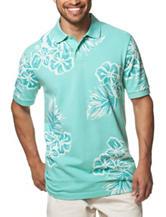 Chaps Tropical Print Polo Shirt