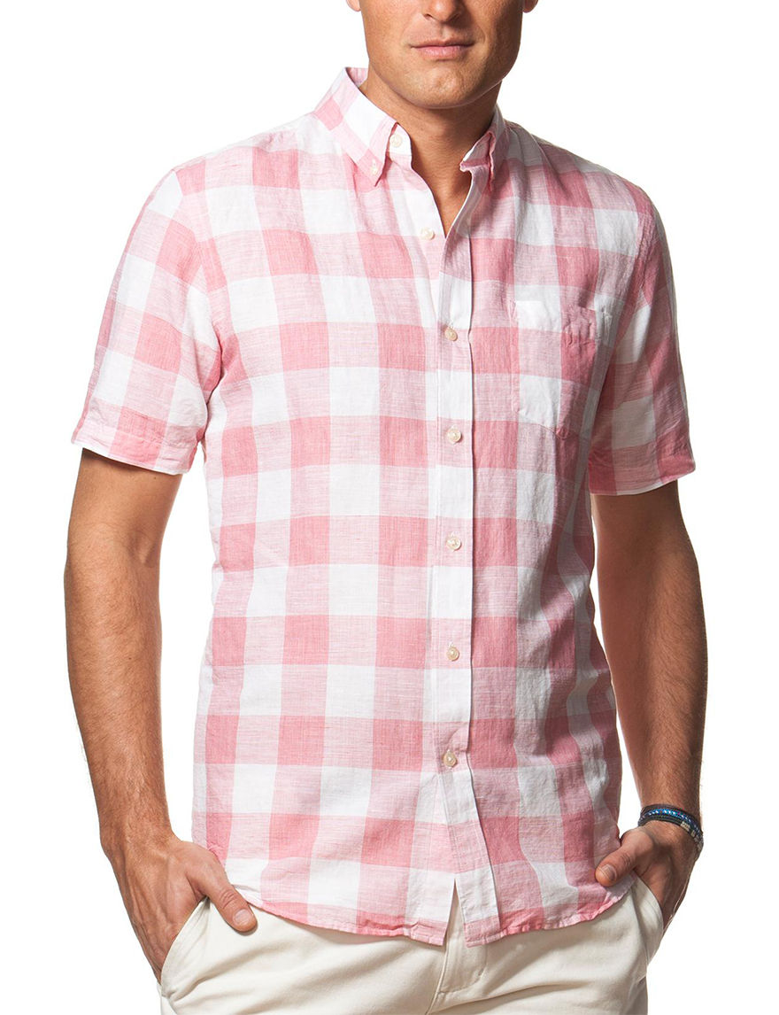 Chaps Red Casual Button Down Shirts