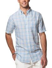 Chaps Linen Plaid Print Woven Shirt