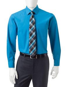 Ivy Crew Medium Blue Casual Button Down Shirts