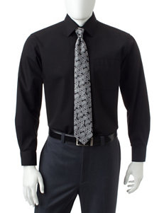 Ivy Crew Black Casual Button Down Shirts
