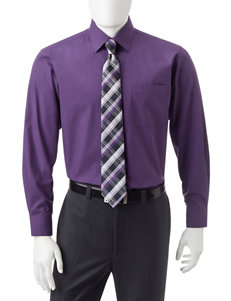 Ivy Crew Purple Casual Button Down Shirts