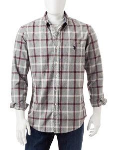 U.S. Polo Assn. Large Plaid Print Oxford Shirt
