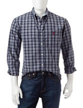 U.S. Polo Assn. Navy Plaid Print Shirt