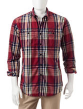 U.S. Polo Assn. Red Plaid Print  Woven Shirt