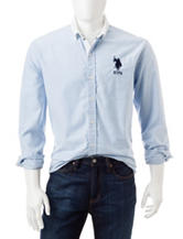 U.S. Polo Assn. Vertical Striped Oxford Woven Shirt