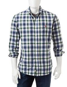 U.S. Polo Assn. Green Casual Button Down Shirts