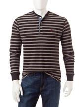 U.S. Polo Assn. Striped Print Henley Shirt