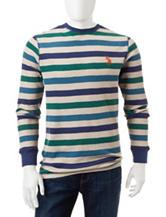 U.S. Polo Assn. Striped Print Thermal Shirt