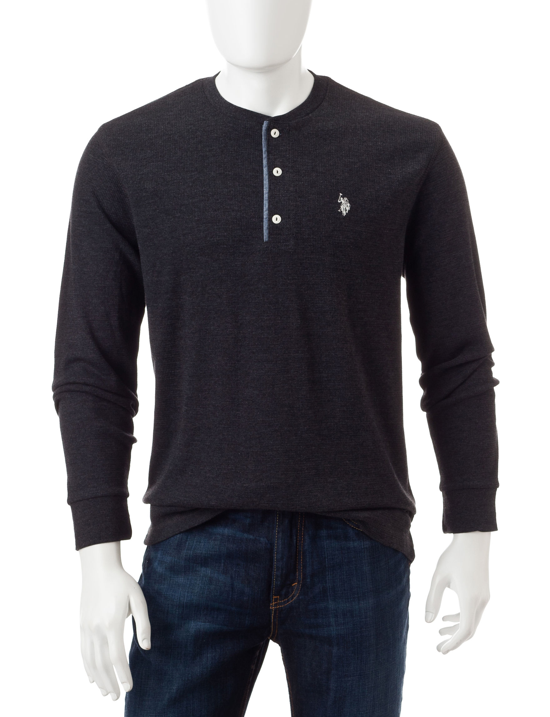 U.S. Polo Assn. Black Henleys